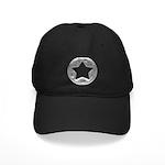 Distressed Vintage Silver Star Black Cap