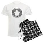 Distressed Vintage Silver Star Men's Light Pajamas