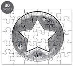 Distressed Vintage Silver Star Puzzle