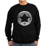 Distressed Vintage Silver Star Sweatshirt (dark)