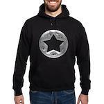 Distressed Vintage Silver Star Hoodie (dark)