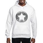 Distressed Vintage Silver Star Hooded Sweatshirt