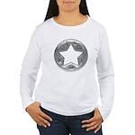 Distressed Vintage Silver Star Women's Long Sleeve