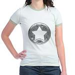 Distressed Vintage Silver Star Jr. Ringer T-Shirt