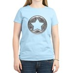 Distressed Vintage Silver Star Women's Light T-Shi