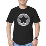 Distressed Vintage Silver Star Men's Fitted T-Shir