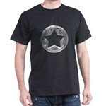 Distressed Vintage Silver Star Dark T-Shirt