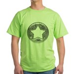 Distressed Vintage Silver Star Green T-Shirt