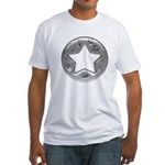 Distressed Vintage Silver Star Fitted T-Shirt