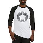 Distressed Vintage Silver Star Baseball Jersey