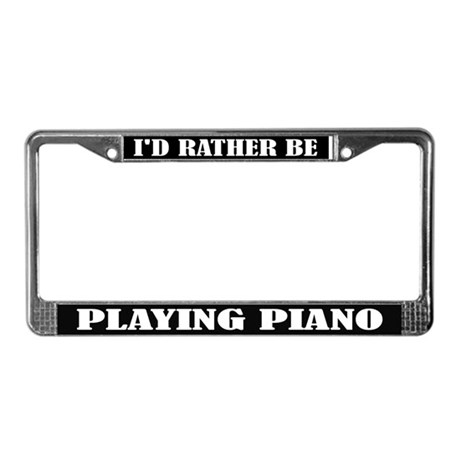 Playing Piano License Frame