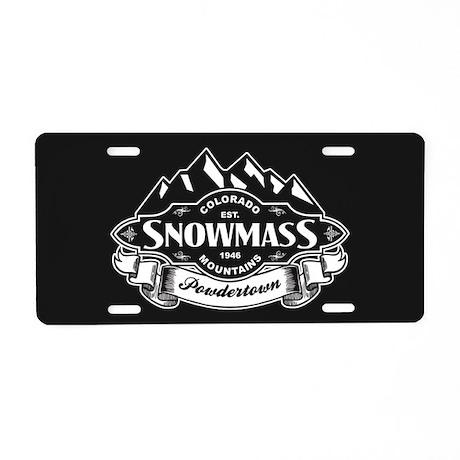 Snowmass Mountain Emblem Aluminum License Plate