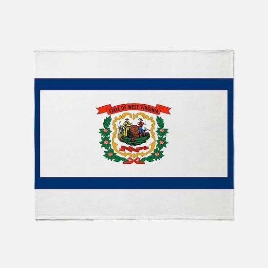 West Virginia State Flag Throw Blanket