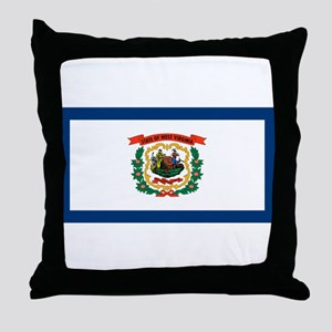 West Virginia State Flag Throw Pillow