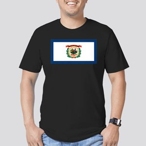 West Virginia State Flag Men's Fitted T-Shirt (dar
