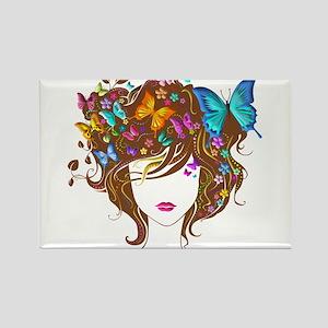 Butterflies & Flowers (Blue & Yellow) Rectangle Ma