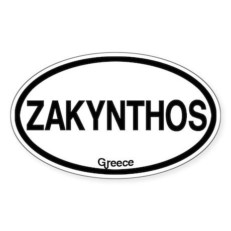 Zakynthos Sticker (Oval)