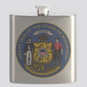Wisconsin State Seal Flask