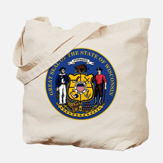 Wisconsin State Seal Tote Bag