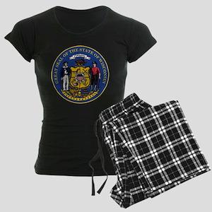 Wisconsin State Seal Women's Dark Pajamas