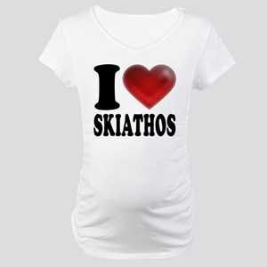 I Heart Skiathos Maternity T-Shirt