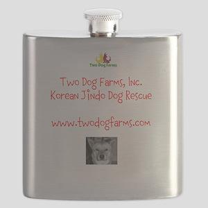 Two Dog Logo Flask