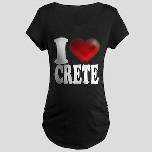 I Heart Crete Maternity Dark T-Shirt