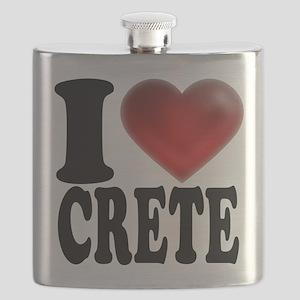 I Heart Crete Flask