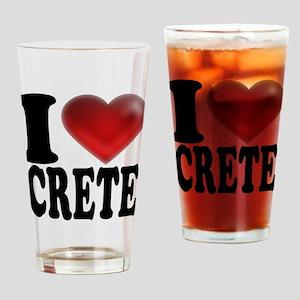 I Heart Crete Drinking Glass