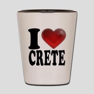 I Heart Crete Shot Glass