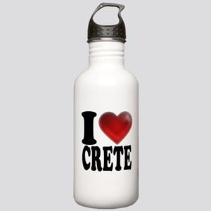 I Heart Crete Stainless Water Bottle 1.0L