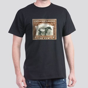 North Borneo Tapir Postage Stamp 1904 Dark T-Shirt