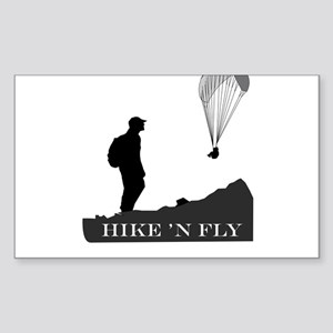 Hike 'N Fly Sticker (Rectangle)