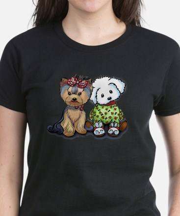 Yorkie and Maltese Women's Dark T-Shirt