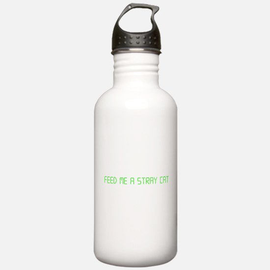 "American Psycho ""Feed Me a Stray Cat"" Water Bottle"
