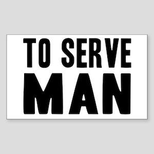 "Futurama ""To Serve Man"" Sticker (Rectangle)"