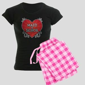 Tattoo Heart Maid Honor Women's Dark Pajamas