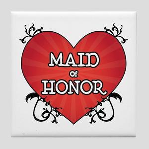 Tattoo Heart Maid Honor Tile Coaster
