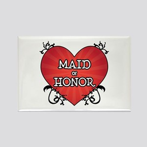 Tattoo Heart Maid Honor Rectangle Magnet