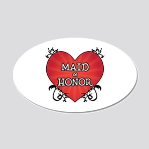 Tattoo Heart Maid Honor 20x12 Oval Wall Decal
