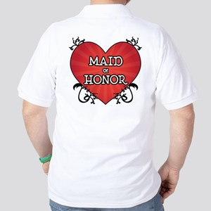 Tattoo Heart Maid Honor Golf Shirt
