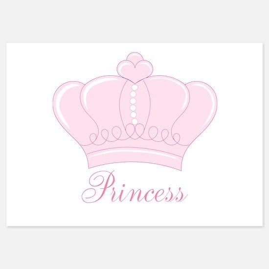 Pink Crown Princess Invitations
