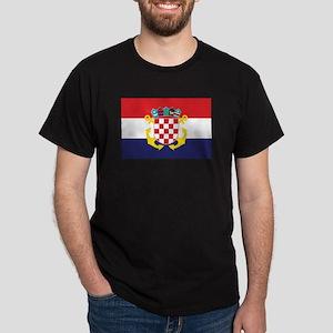 Croatia Naval Ensign Dark T-Shirt