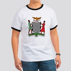 Zambia Coat Of Arms Ringer T