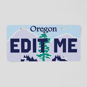Oregon Douglas fir and mountains replica plate