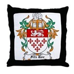 Fitz Roe Coat of Arms Throw Pillow