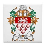 Fitz Roe Coat of Arms Tile Coaster
