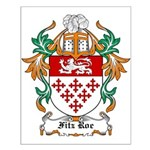 Fitz Roe Coat of Arms Small Poster