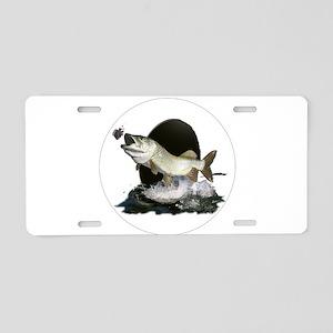 Feeding tiger musky Aluminum License Plate