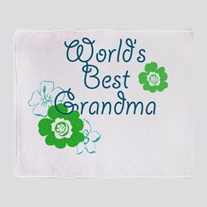 Worlds Best Grandma Throw Blanket
